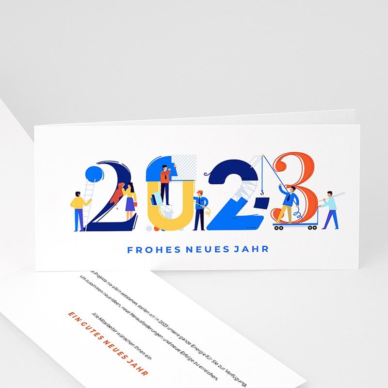 Geschäftliche Weihnachtskarten Gewerbe, Bauunternehmen, Isometrie
