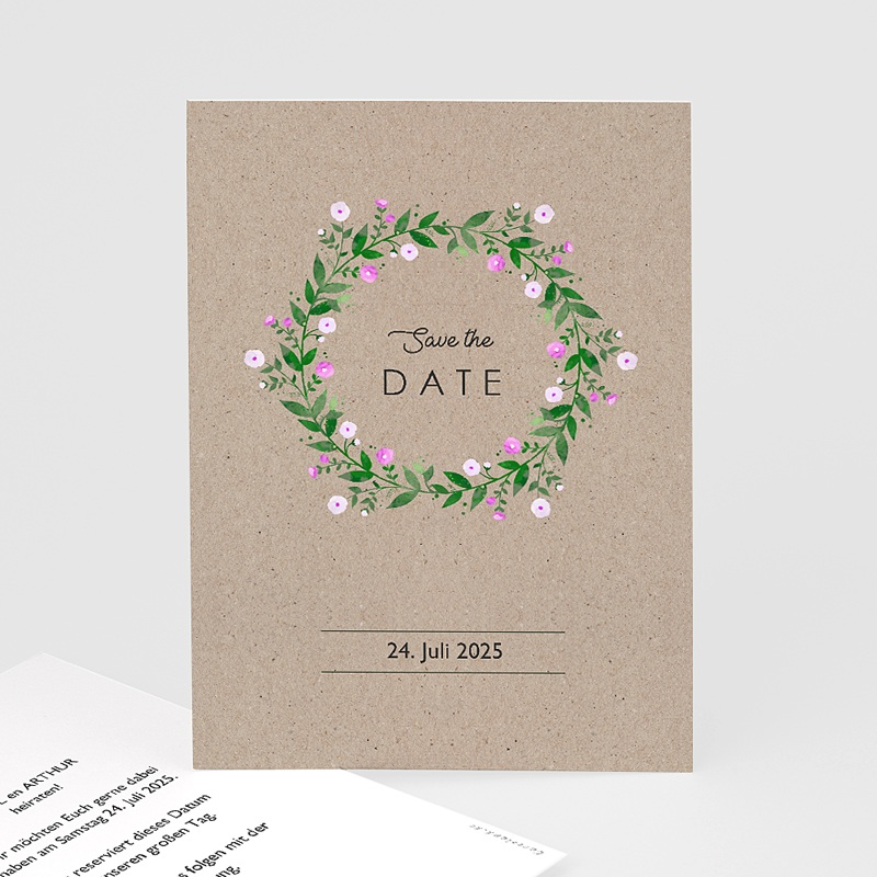 Save The Date Karten Hochzeit Vintage Flower