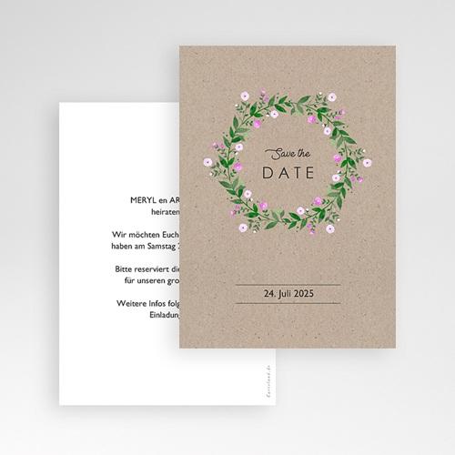 Save The Date Karten Hochzeit Vintage Flower pas cher