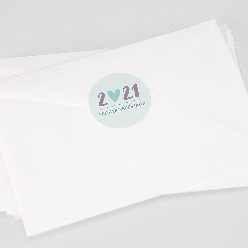 Etikett Weihnacht Herz Pastell-Solidaire, Aufkleber