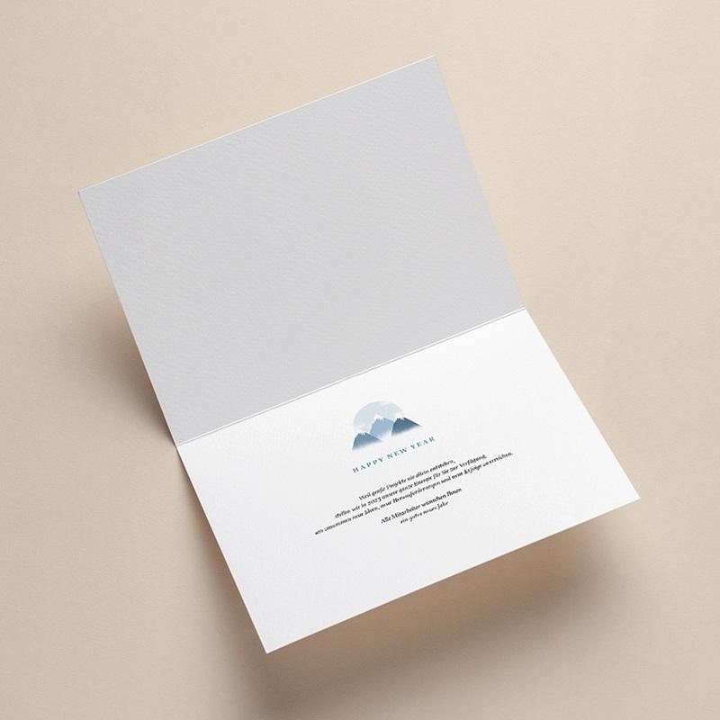 Geschäftliche Weihnachtskarten Auf dem Gipfel, Berge, Goldprägung, Brieftaschenöffnung pas cher