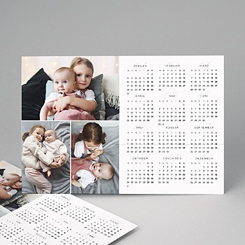 Kalender Jahresplaner - Wandkalender farbig - 2