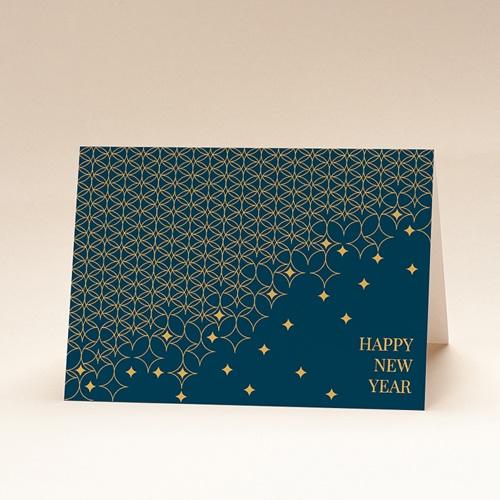 Geschäftliche Weihnachtskarten Sternenpflaster, Grüner Hintergrund, Gold, Brieftaschenöffnung
