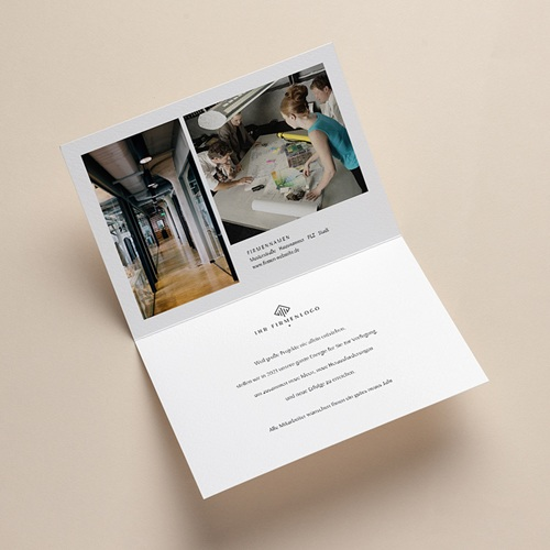 Geschäftliche Weihnachtskarten Sternenpflaster, Grüner Hintergrund, Gold, Brieftaschenöffnung pas cher
