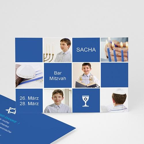 Dankeskarten Bar Mitzwah - Sascha 902 test