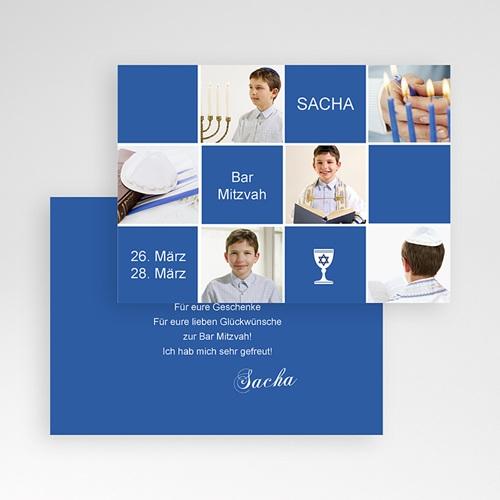 Dankeskarten Bar Mitzwah Sascha pas cher