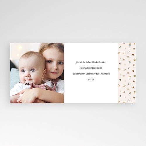 Dankeskarten Geburt für Geschwister Kleine Herfstgans, asymmetrischer Falz pas cher