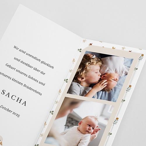 Geburtskarten Gänsebaby, Herbst, Beige pas cher