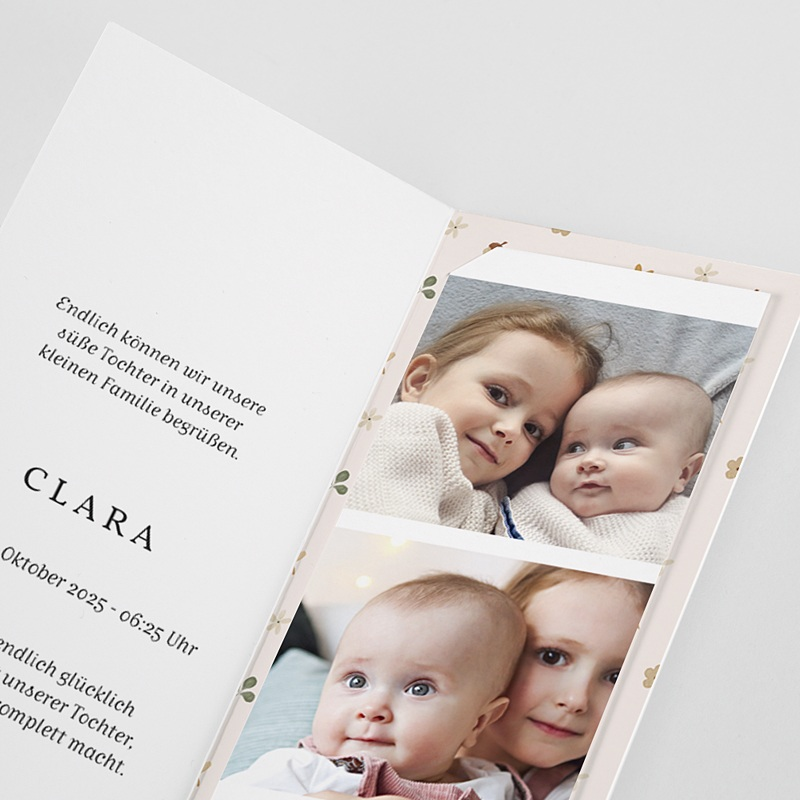 Geburtskarten Kleine Herfstgans pas cher