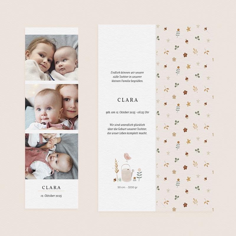 Geburtskarten Kleine Herfstgans gratuit