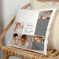 Personalisierte Foto-Kissen Weihnachten Fotocollage, 5 Fotos, 40 x 40 cm
