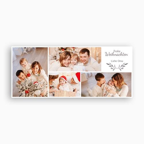 Personalisierte Fototassen Weihnachten Weihnachten Fotocollage, 4 Fotos, Ø 8 x H. 9,5 cm pas cher