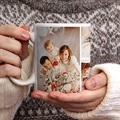 Personalisierte Fototassen Weihnachten Weihnachten Fotocollage, 4 Fotos, Ø 8 x H. 9,5 cm gratuit