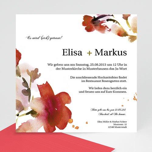 Einladungskarten Hochzeit  - Aquarelle 9050 test