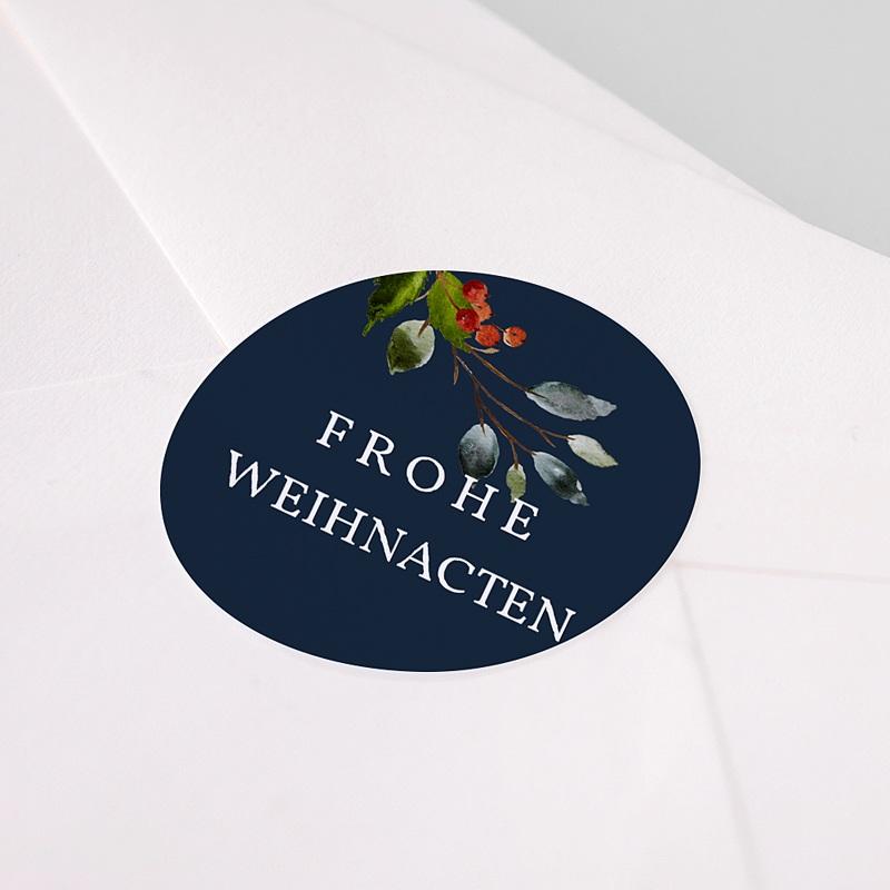 Etikett Weihnacht Adventskranz Ländlich, Sticker pas cher