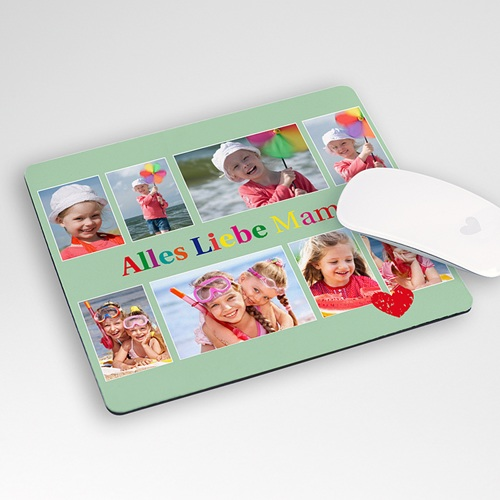 Personalisierte Foto-Mousepad Alles liebe Mama, 8 fotos
