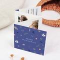 Weihnachtskarten A la Fauvismus, Leporello-Klappkarte