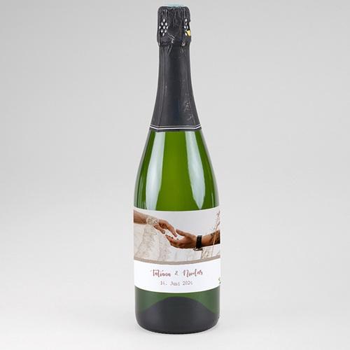 Flaschenetiketten Hochzeit Apricot & Krone, Foto, Champagner