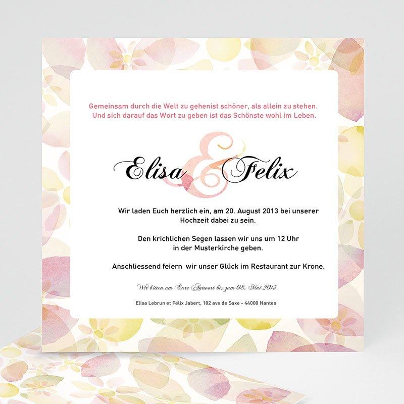 Klassische Hochzeitskarten  Verspielt zauberhaft