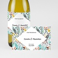 Flaschenetiketten Hochzeit Wilde Blumen, Champagner, 13 x 8 cm pas cher