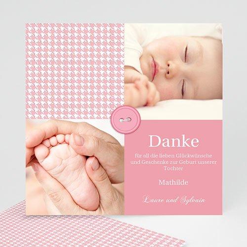 Dankeskarten Geburt Mädchen - Tweed Girl 9075