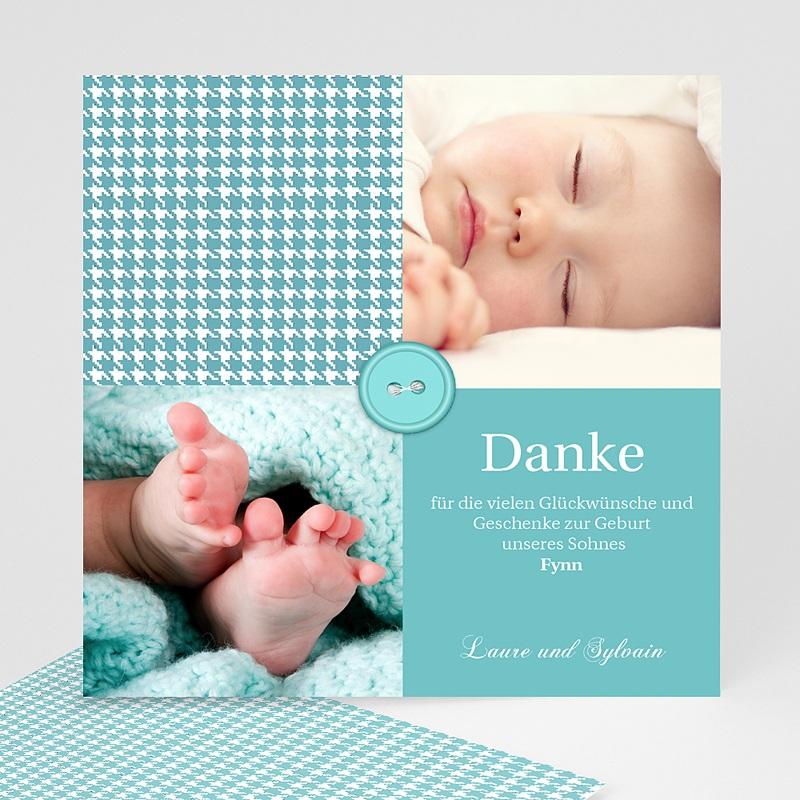 Dankeskarten Geburt für Jungen Tweed Boy