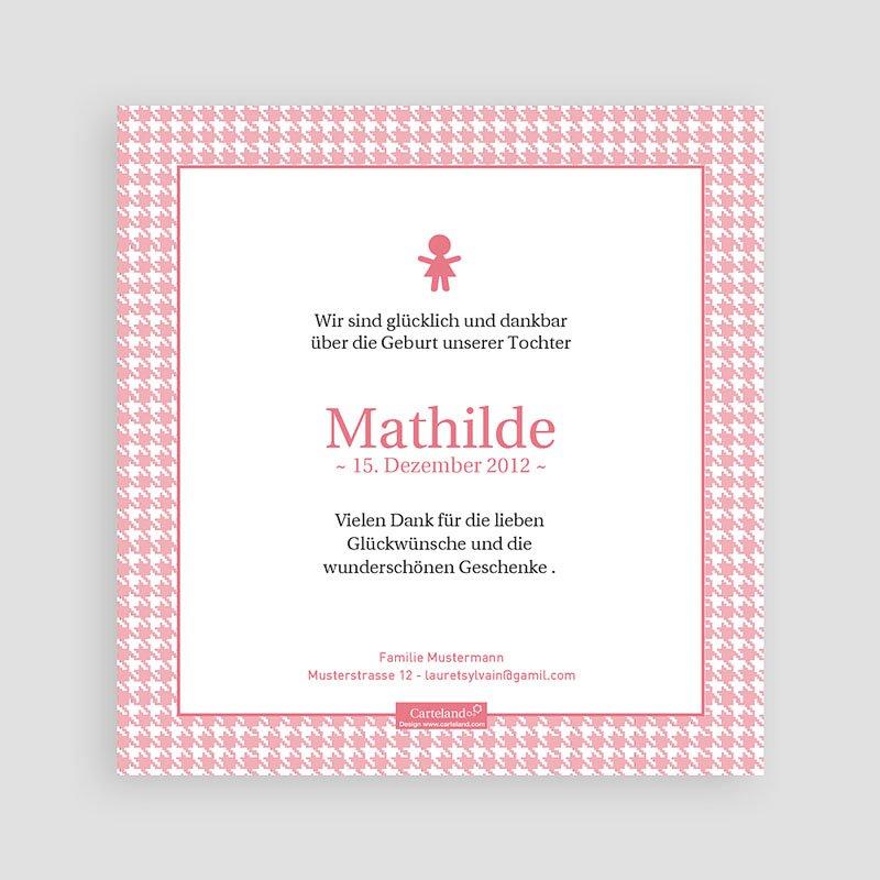Geburtskarten für Mädchen Mathilde pas cher