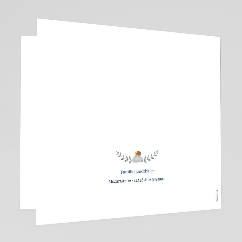 Geburtskarten für Jungen Retro-Alphabet, Natur, Dunkelblau gratuit