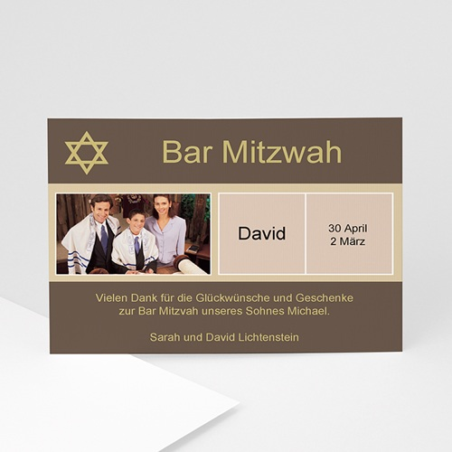 Dankeskarten Bar Mitzwah - Sarah 910