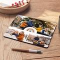 Personalisierte Foto-Mousepad Rainbow Wish, 3 Fotos, 19,6 x 23 cm