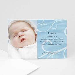 Danksagungskarten Taufe In Blau