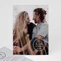 Hochzeitseinladungen mit Foto Foto-Briefmarke, 16,7 x 12