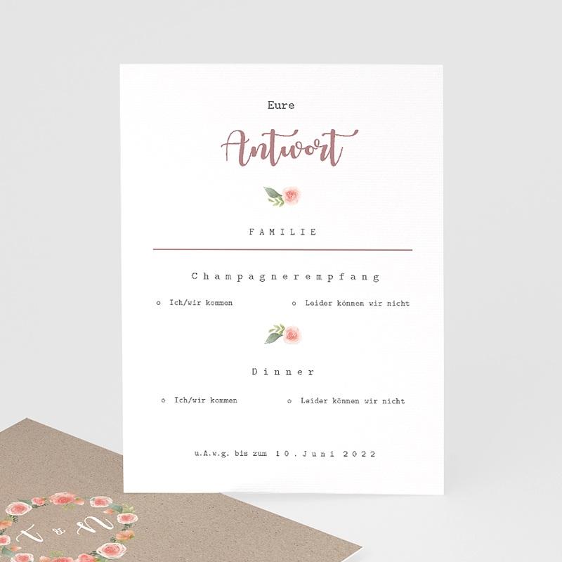 Antwortkarten Hochzeit Apricot & Krone, Antwort