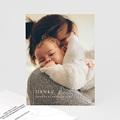 Dankeskarten Geburt für Mädchen Mutter und Kind, Foto, Line Art