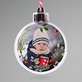 Personalisierte Weihnachtskugel Adventskranz Ländlich, foto, Ø 7,5 cm