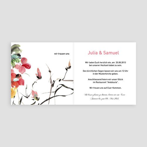Einladungskarten hochzeit chinesisches - Hochzeitseinladung text modern ...