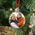 Personalisierte Weihnachtskugel Christbaumkugel mit Foto, Rainbow Wish, 7,5 cm