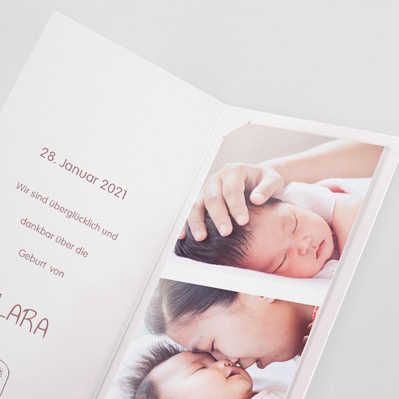 Geburtskarten Kleiner Prinz und Rose, 3 Fotos pas cher