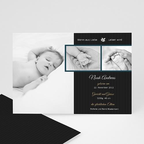 Geburtskarten für Jungen Modern originell