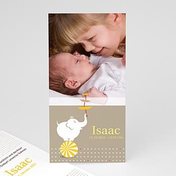 Geburtskarten für Jungen - Baby Elefantenzirkus - 1