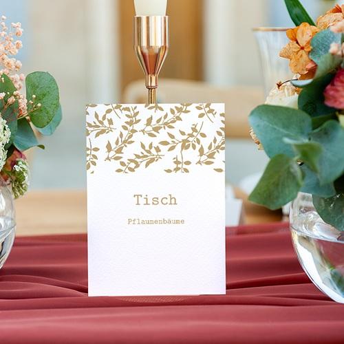 Tischnummer Hochzeit Natur White Kraft, Dreierpack gratuit