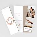 Rustikale Dankeskarten Hochzeit Pfingstrosen im Kranz, Lesezeichenformat