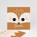 Dankeskarten Geburt mit Tieren Fuchs und Co., Format 10 x 10 cm