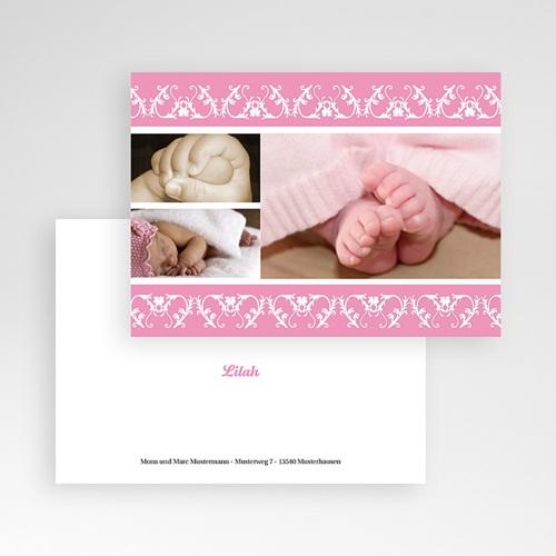 Dankeskarten Geburt Mädchen - Geometrische Verzierung 9212 test