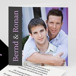 Er + Er - Hochzeitskarte Herz pur - 1