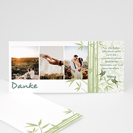 Danksagungskarten Hochzeit  Bambus
