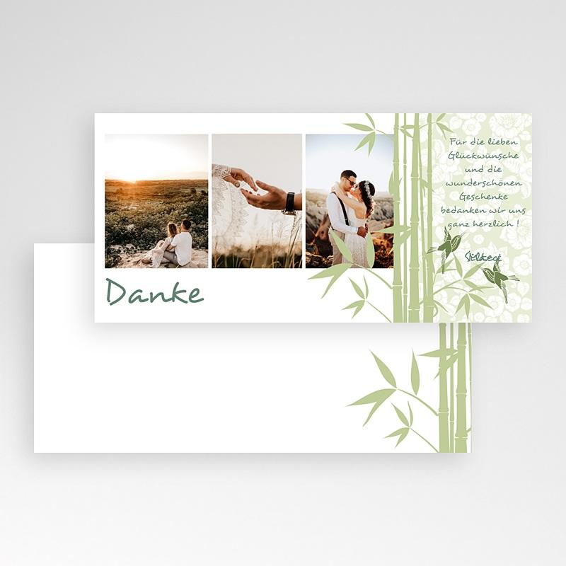 Danksagungskarten Hochzeit  Bambus pas cher