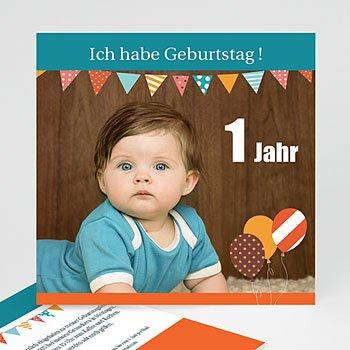 Geburtstagseinladungen Jungen   Kindergeburtstag   Fähnchen   1