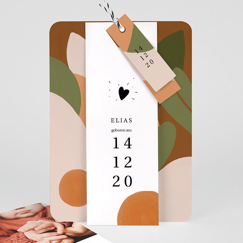 Geburtskarten für Jungen Herbstkomposition, 3 Anhänger