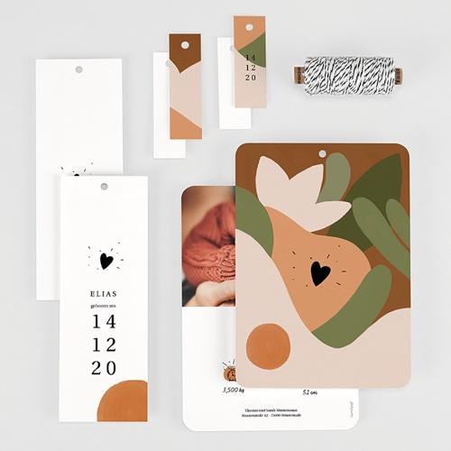 Geburtskarten für Jungen Herbstkomposition, 3 Anhänger gratuit